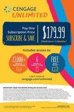 CENGAGE UNLIMITED-ONE YEAR STANDALONE ACCESS CARD