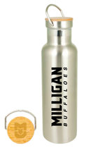 Milligan Buffaloes bottle with bamboo lid