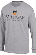 Milligan University Gray LS T-shirt